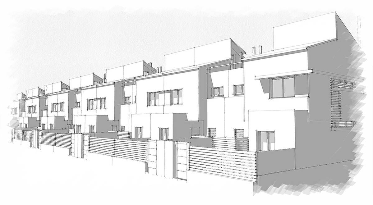 58 viviendas unifamiliares adosadas las pajanosas for Viviendas unifamiliares modernas
